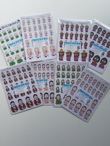 Mystery Girl Grab Bag Planner Stickers