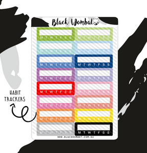 Habit Trackers Icon Planner Stickers