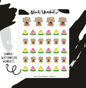 Summer Watermelon Wombat Planner Stickers