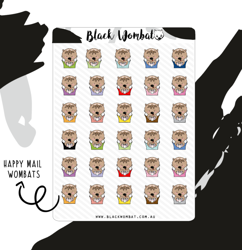 Happy Mail Wombat Planner Stickers