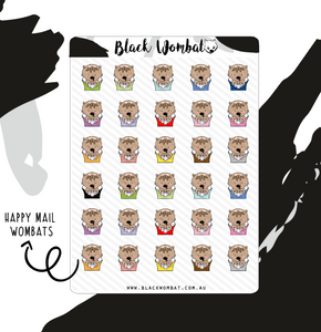 *NEW* Happy Mail Wombat Planner Stickers