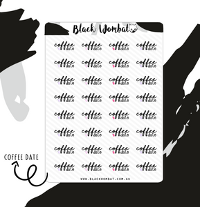 Coffee Date Planner Stickers