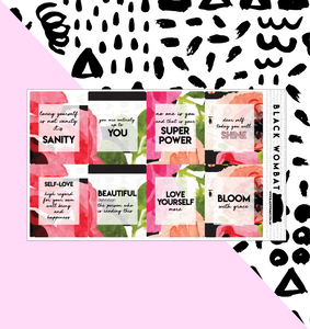 Self-love, Valentine's Day Box Planner Stickers