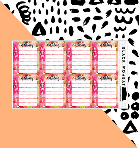 Spending Weekly Floral Tracker Planner Stickers