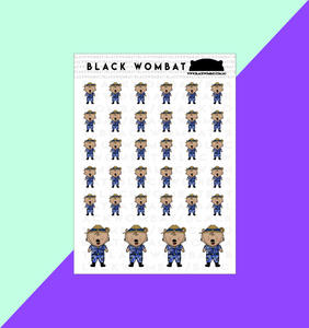 Army Cadet Wombat Planner Stickers