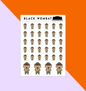 Scouts Wombat Planner Stickers
