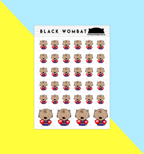 Boxing, Boxer Wombat Planner Stickers
