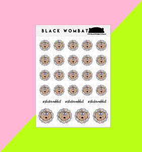 Sticker Head, Sticker Addict Wombat Planner Stickers