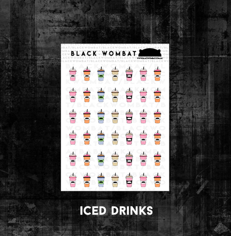 Iced Drinks, Slushie, Iced Coffee Planner Stickers