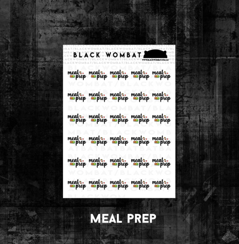 Meal Prep Planner Stickers