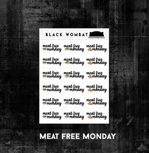 Meat Free Mondays Planner Stickers
