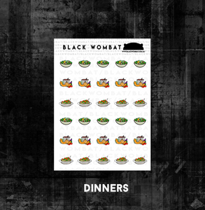 Dinner and Meal Planner Stickers
