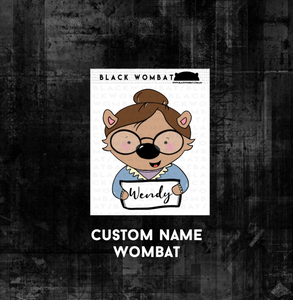 Personalised Glasses Wombat Wombat Planner Stickers