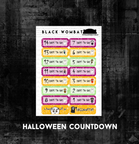 Halloween Countdown - Planner Stickers
