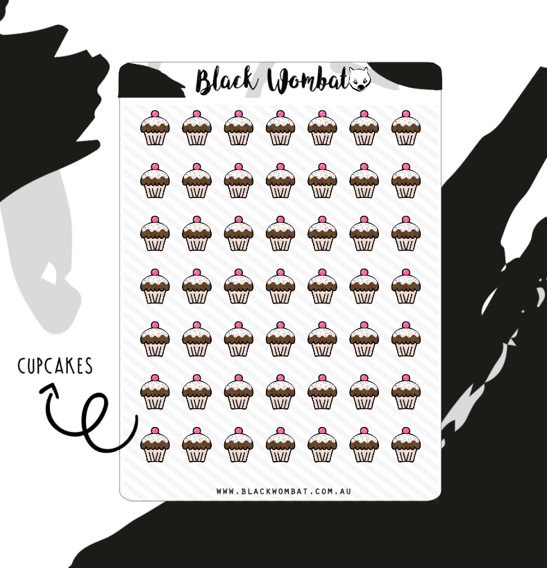 Cupcake Planner Stickers