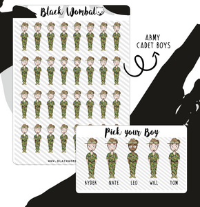 Army Cadet Boy Planner Stickers