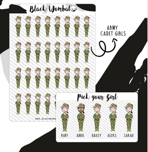 Army Cadet Girl Planner Stickers