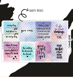 Inspirational Quote 2 Box Planner Stickers