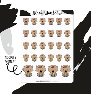Noodles Take Away Wombat Planner Stickers