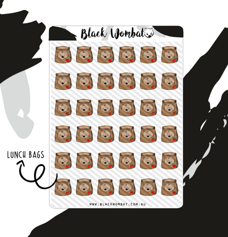 Lunch Bag, Tuckshop Wombat Planner Stickers