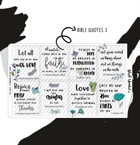 Bible Verses 2 Box Planner Stickers