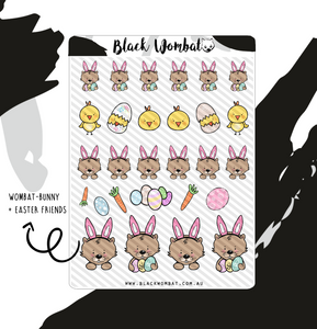 Easter Mix Wombat Planner Stickers