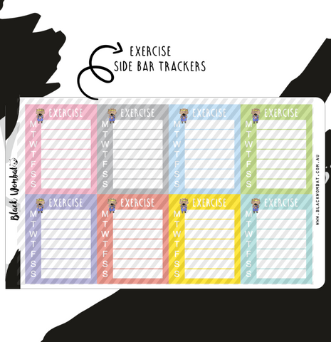 Exercise Tracker Wombat Planner Stickers