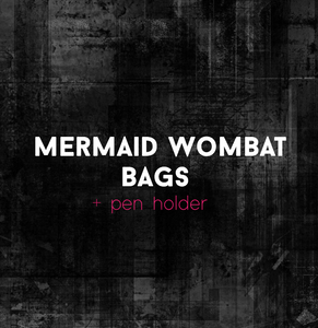 Mermaid Wombat Bag + pen holder