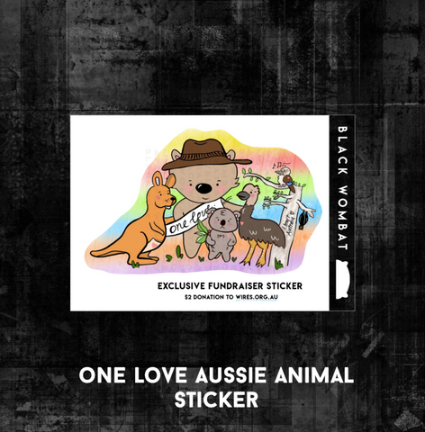One Love Aussie Animal - Fundraiser Sticker