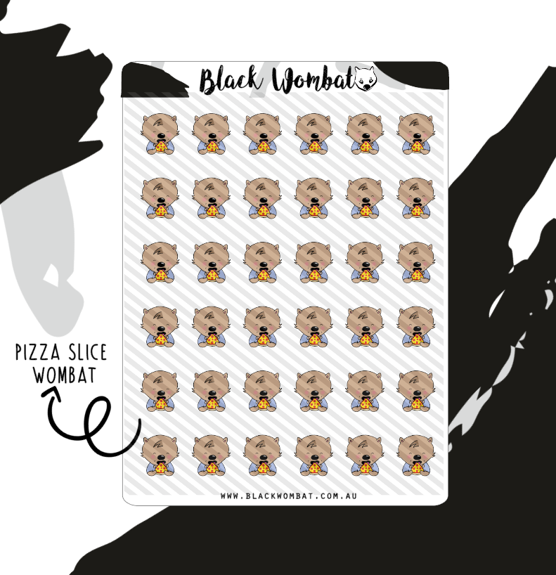 Pizza Slice Wombat Planner Stickers