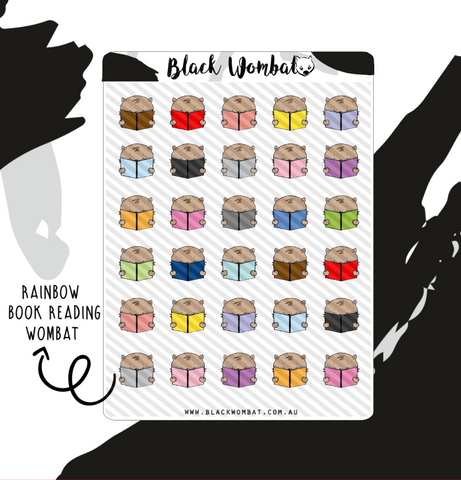 Reading Rainbow books Wombat Planner Stickers