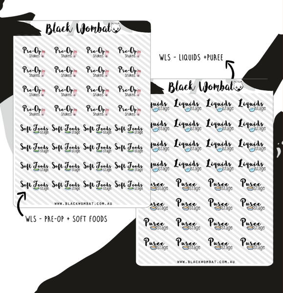 Weight Loss Surgery Planner Stickers