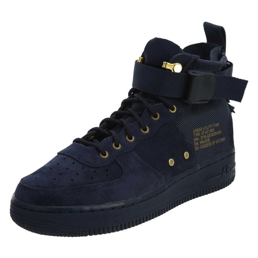 Nike SF Af1 Mid Big Kids Shoes Obsidian Blue/Black  Boys / Girls Style :AJ0424