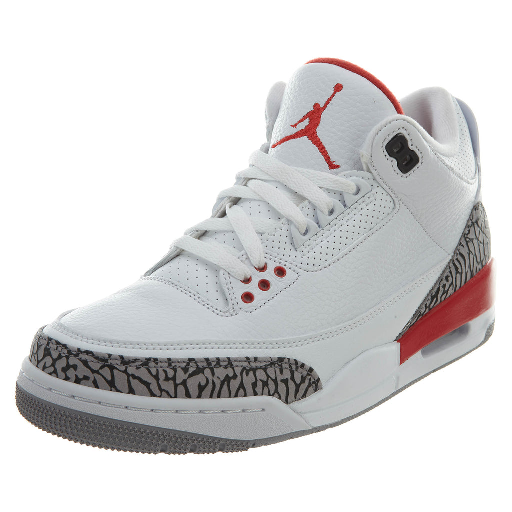 "Air Jordan 3 Retro ""katrina"" - white/fire red Mens Style :136064"
