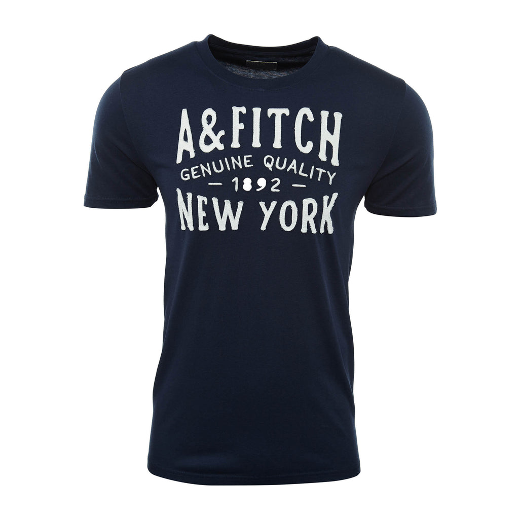 Abercrombie & Fitch Round Neck Lettering Pattern Short-sleeved Casual T-shirt Mens Style : 175-123-0046