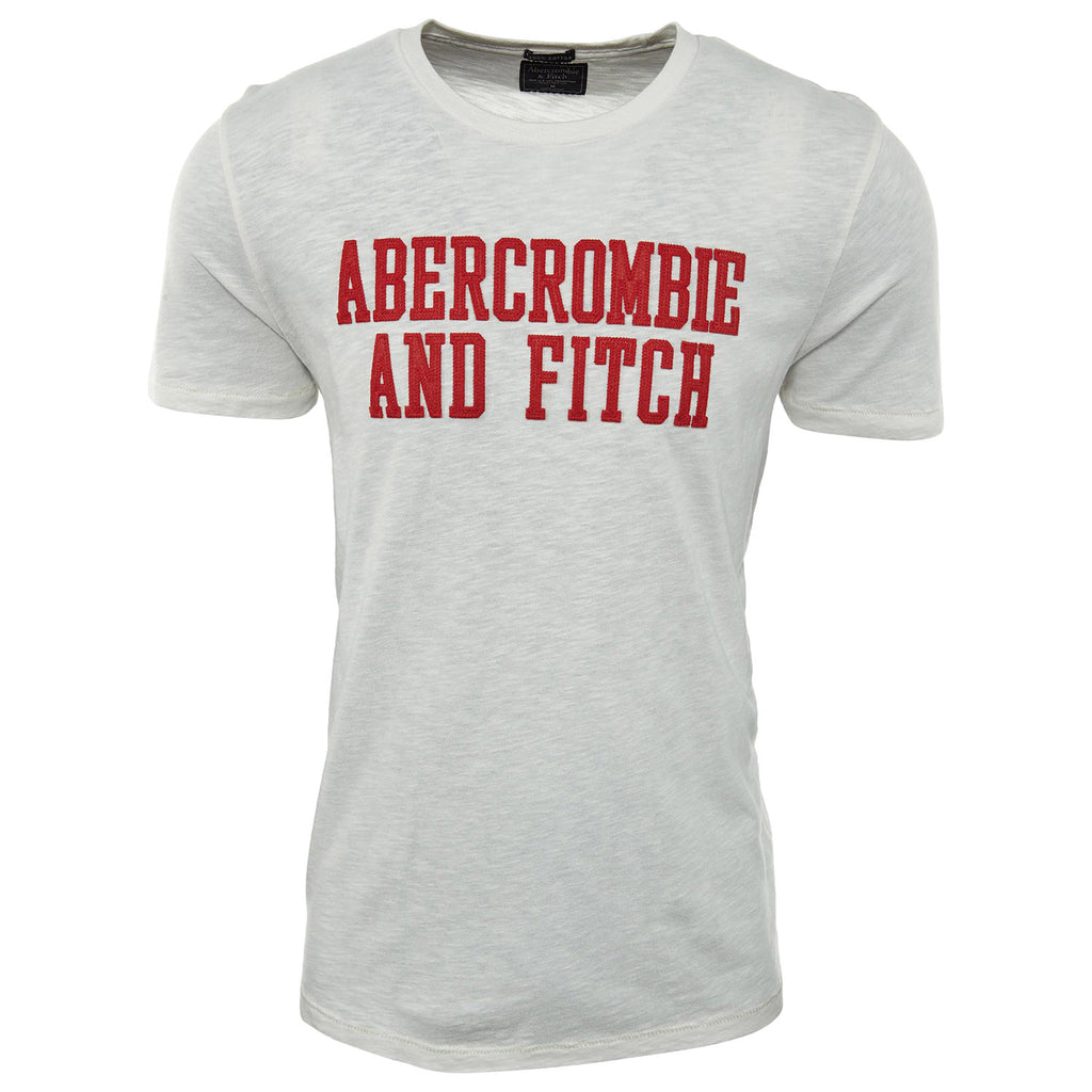 Abercrombie & Fitch Applique Logo Tee Mens Style : 123-238-2347
