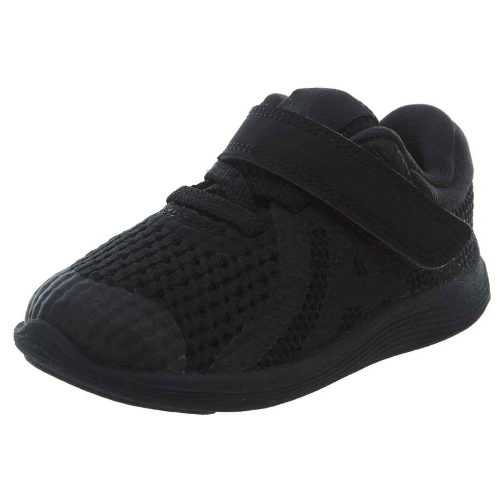 Nike Revolution 4 TDV 'Triple Black' Boys / Girls Style :943304