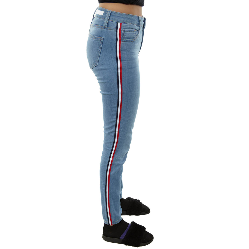 Cello Mid Rise Ankle Skinny With Multi Stripe Tuxedo Womens Style : Wv16363