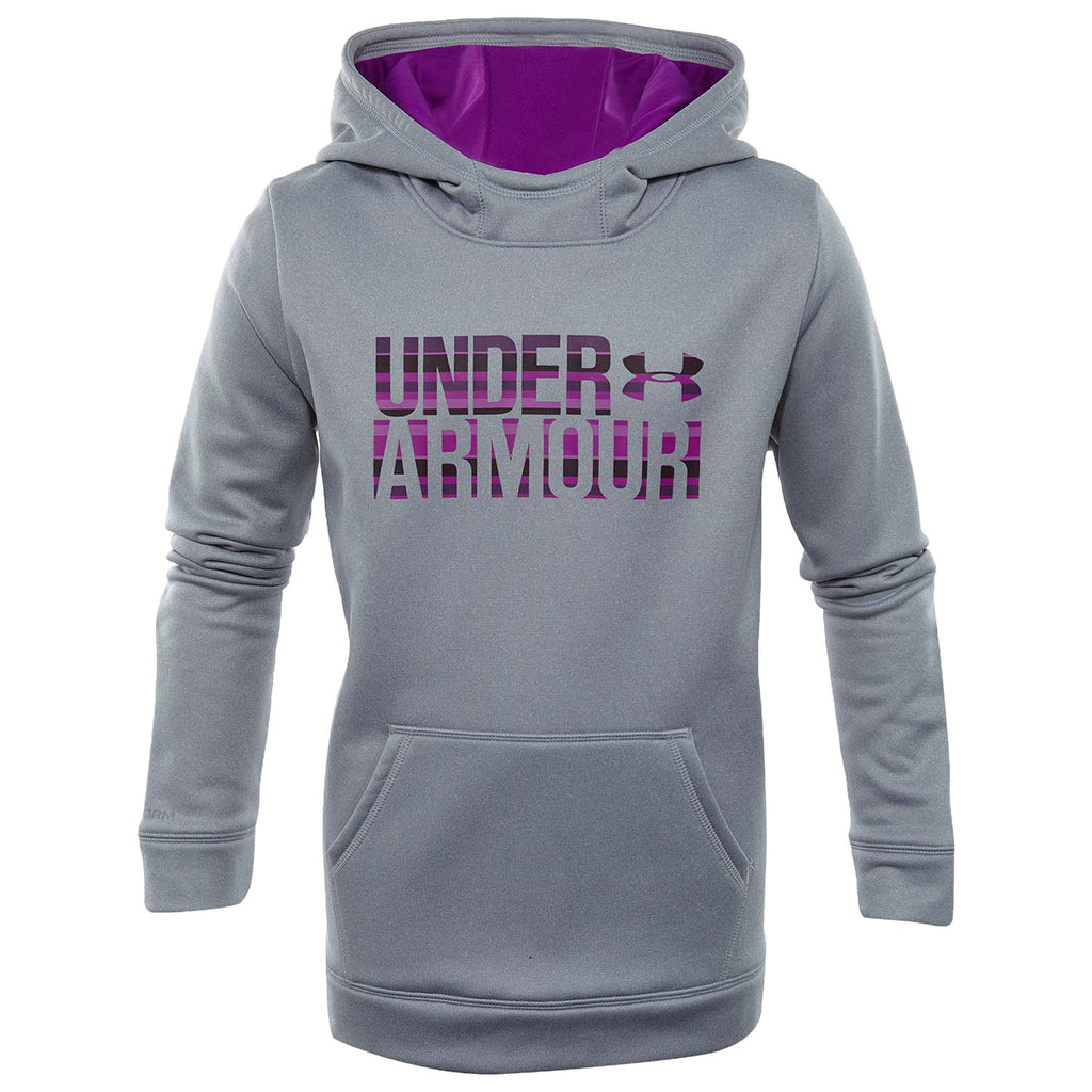 Underarmour Fleece Wordmark Hoodie Big Kids Style : 1308409-941