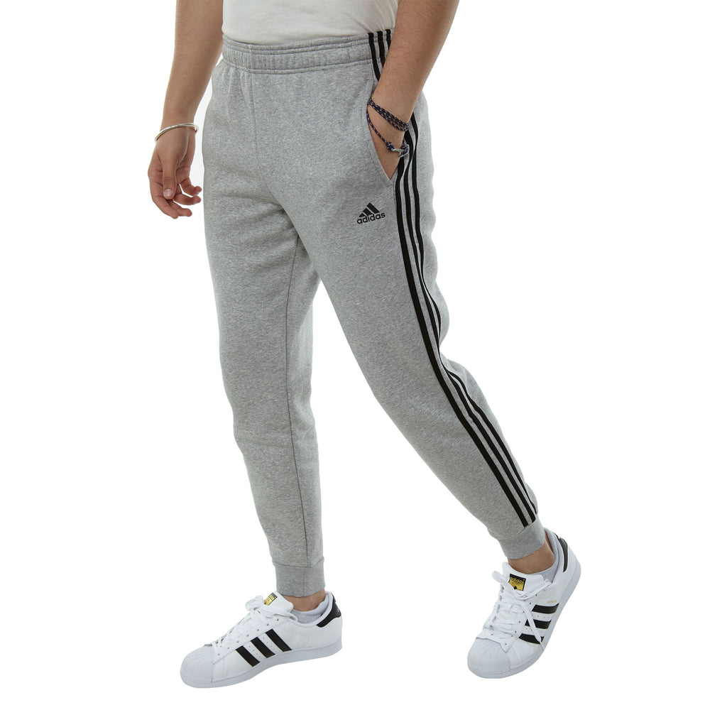 Adidas Essentials 3-stripe Tcf Pant Fl Mens Style : Ce9492-Grey