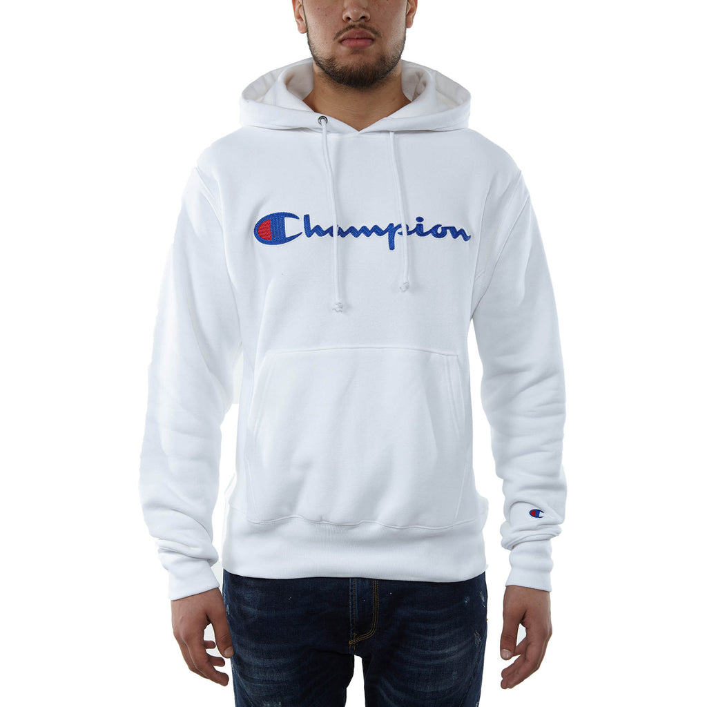 Champion Fleece Pullover Hoodie Mens Style : Gf68y07471-Wht