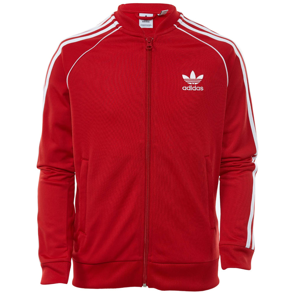 Adidas Superstar Track Jacket Big Kids Style : Dh2653-COLRED