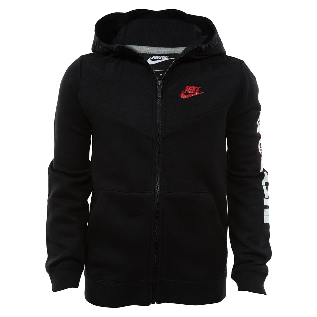 Nike Just Do It Full-zip Hoodie Big Kids Style : At5669-010