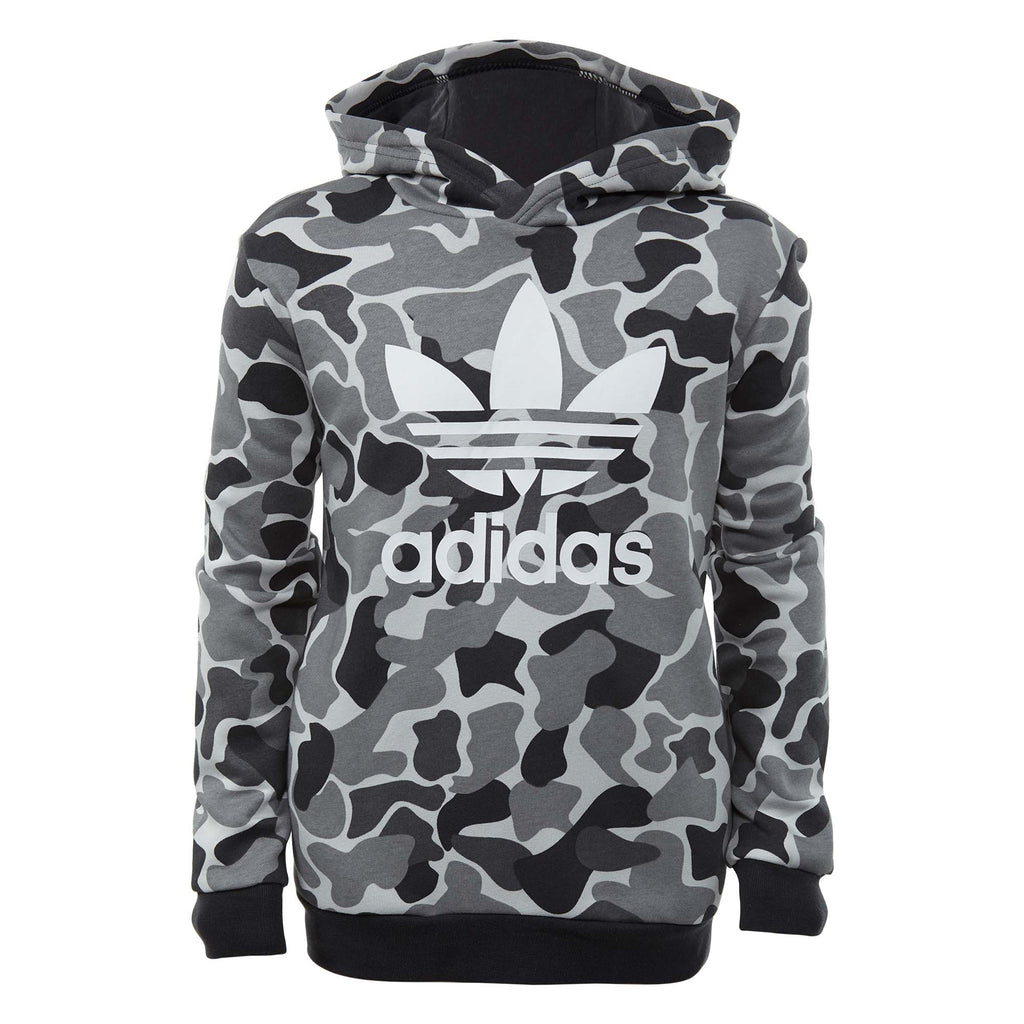 Adidas Camo Trefoil Hoodie Big Kids Style : Dh2710-MULTCO/CARBON