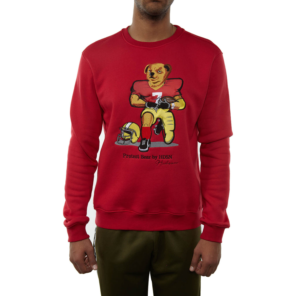 Hudson Bear Crewneck Mens Style : H5052466-RED