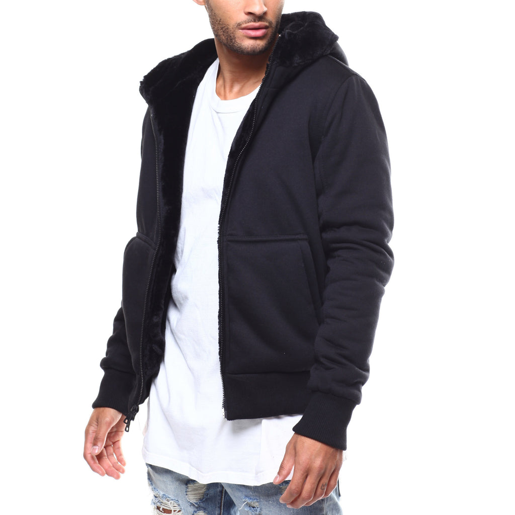 Jordan Craig Full Zip Up Hoodie Mens Style : 8280ha-BLACK