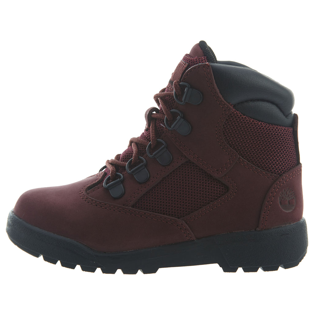 "Timberland 6"" Field Boots Toddlers Style : Tb0a1at2-Burgundy"