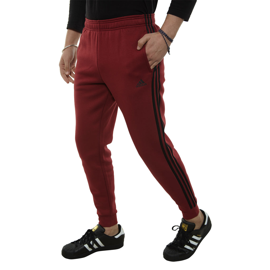 Adidas Essential 3 Stripe Fleece Pants Mens Style : Dy3167-NOBMAR/BLACK