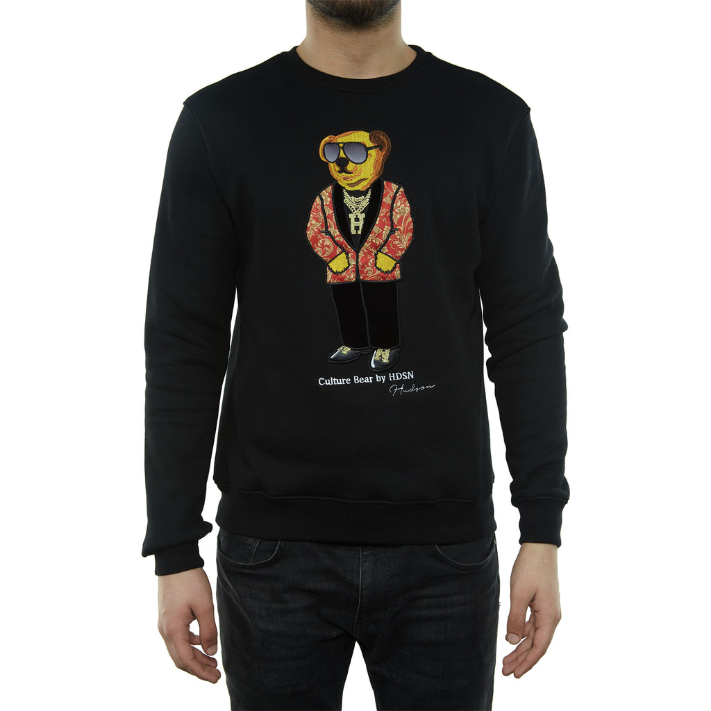 Hudson Bear Crewneck Sweatshirt Mens Style : H5052499-BLACK