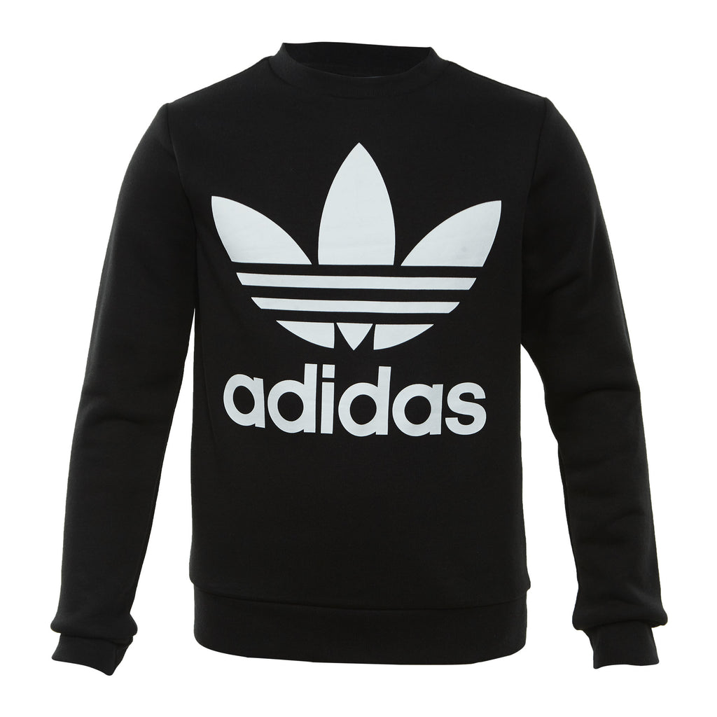 Adidas Fleece Crew Big Kids Style : Dh2705-BLACK/WHITE